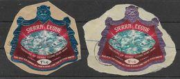 1970 SIERRA LEONE  PA  103A-03B Diamants, Oblitérés, Cachet Rond - Sierra Leone (1961-...)