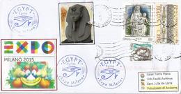 EGYPTE. EXPO MILAN 2015, Lettre Du Pavillon Egyptien à MILAN, Avec Au Dos Le Tampon Officiel EXPO - 2015 – Milan (Italy)