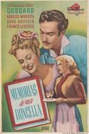 SPAIN ESPAÑA - CINE - FILM - CINEMA - ADVERTISEMENT - MEMORIAS DE UNA DONCELLA - PAULETTE GODARD - Cinema Advertisement