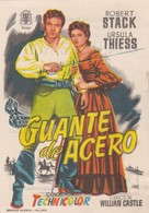SPAIN ESPAÑA - CINE - FILM - CINEMA - ADVERTISEMENT - GUANTE DE ACERO - ROBERT STACK - URSULA THIESS - Cinema Advertisement