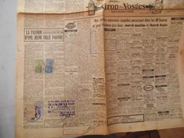 TIMBRES FISCAUX 40 FRANCS DIMENSION 30 FRANCS TAXES COMMUNALES 3 FRANCS SUR JOURNAL NORD MATIN DU 7 JANVIER 1949 - Revenue Stamps