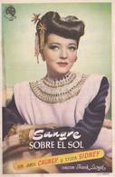 SPAIN ESPAÑA - CINE - FILM - CINEMA - ADVERTISEMENT - SANGRE SOBRE EL SOL - JAMES CAGNEY - SYLVIA SIDNEY - Cinema Advertisement