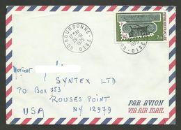 N° 1831 - Arphila 75 / Lettre Avion >>> U.S.A. / BOURSONNE 29.10.1975 - Marcophilie (Lettres)