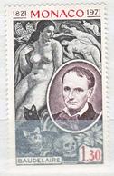 Monaco 1972, Postfris MNH, 150th Birthday Of Charles Baudelaire, Cats - Monaco