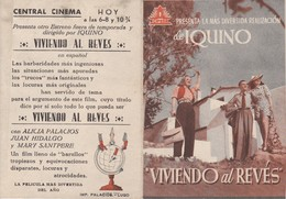 SPAIN ESPAÑA - CINE - FILM - CINEMA - ADVERTISEMENT - VIVIENDO AL REVÉS - ALICIA PALACIOS - JUAN HIDALGO - MARY SANTPERE - Cinema Advertisement
