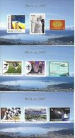 "NEW ZEALAND, 2008, ""Best Of 2007"",  Complete Set Of 3 Miniature Sheets - Blocks & Sheetlets"