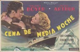 SPAIN ESPAÑA - CINE - FILM - CINEMA - ADVERTISEMENT - CENA DE MEDIA NOCHE - CHARLES BOYER - JEAN ARTHUR - Cinema Advertisement