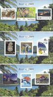 "NEW ZEALAND, 2009, ""Best Of 2009"",  Complete Set Of 3 Miniature Sheets - Blocks & Sheetlets"