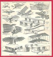 Aviation, Appareil Volant De Besnier, De Lawrence Hargrave, Aéroplane De Maxim..., Larousse 1908 - Old Paper