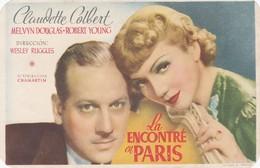 SPAIN ESPAÑA - CINE - FILM - CINEMA - ADVERTISEMENT - LA ENCONTRÉ EN PARIS - CLAUDETTE COLBERT - Cinema Advertisement