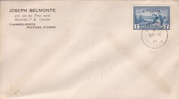 JOSEPH BELMONTE MONTRAL CANADA OBLITERE OTTAWA 1946- BLEUP - 1937-1952 Reinado De George VI