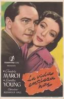 SPAIN ESPAÑA - CINE - FILM - CINEMA - ADVERTISEMENT - LA VIDA EMPIEZA HOY - FREDRIC MARCH - LORETTA YOUNG - Cinema Advertisement