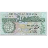 Billet, Guernsey, 1 Pound, 1980-1989, Undated (1980-1989), KM:48a, NEUF - Guernsey