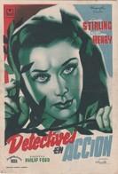 SPAIN ESPAÑA - CINE - FILM - CINEMA - ADVERTISEMENT - DETECTIVES EN ACCION - LINDA STIRLING - WILLIAM HENRY - Cinema Advertisement