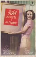 SPAIN ESPAÑA - CINE - FILM - CINEMA - ADVERTISEMENT - OCHO MUJERES Y UN CRIMEN - BARBARA STANWYCK - HENRY FONDA - Cinema Advertisement