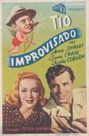 SPAIN ESPAÑA - CINE - FILM - CINEMA - ADVERTISEMENT - TIO IMPROVISADO - ANNE SHIRLEY - JAMES CRAIG - CHARLEY COBURN - Cinema Advertisement