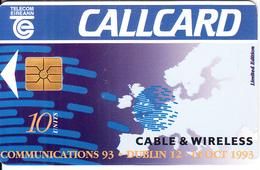 IRELAND - Cable & Wireless, Chip GEM1.3, Tirage %10000, 09/93, Used - Ireland