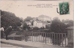 Calvados : THURY - HARCOURT  : Le  Château  Vue  Prise  Du Pont De La  Gare - Thury Harcourt