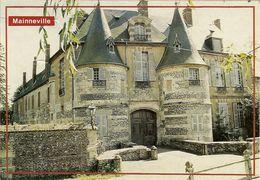 """CP De MAINNEVILLE """" Le Château , Les Deux Tours Encadrant L'imposante Entrée Du XVI """" - Les Andelys"""