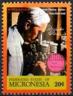 MICRONESIA MNH** - Neuf Mint - Fleming Microscopio Microscope Mikroskop Biology Medicine Pharmacology Science - Medicina