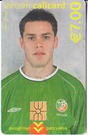 IRELAND - FIFA World Cup 2002, Irish National Football Team/Steve Finnan, Chip GEM1.3, Tirage %7000, Used - Ireland