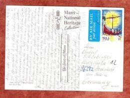 AK Wikingerboot, Motivgleiche EF, Douglas Nach Hochstadt 1998 (55498) - Isle Of Man