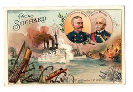 Chromo Suchard, Serie 77 / 4, Militaire, Bataille, Marine, Cavite, 1898 - Suchard