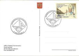 Vatican 1996.Postcard And Postmark SINDELFINGEN. Motive Stamp - 1996 Priestly Ordination Of Pope John Paul II - Vatican