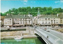 02 - CHATEAU-THIERRY - LE PONT DE LA MARNE - LA PLACE JEAN DE LA FONTAINE - LA TOUR BALHAN - CPM - ÉCRITE - - Chateau Thierry