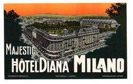 "Etiquette Label Hotel ""Majestic Diana"" Milano, Italie - Hotel Labels"