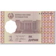 Billet, Tajikistan, 1 Diram, 1999-2000, Undated (1999-2000), KM:10a, NEUF - Tadjikistan