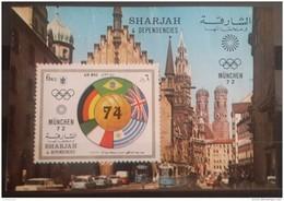 GS22 - Sharjah 1971 Mi. Block 90B S/S - Munich Olympic Games - Sharjah