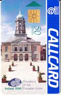 IRELAND - Ireland 1996/Presidency Of The EU, Dublin Castle, Chip GP1, Tirage %50000, 09/96, Used - Ireland