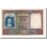 Billet, Espagne, 500 Pesetas, 1931-04-25, KM:84, SUP - [ 2] 1931-1936 : Repubblica