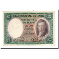Billet, Espagne, 25 Pesetas, 1931-04-25, KM:81, NEUF - [ 2] 1931-1936 : Repubblica