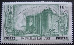 R1631/2129 - 1939 - COLONIES FR. - INDE - N°118 NEUF* - Cote : 12,00 € - India (1892-1954)