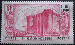 R1631/2132 - 1939 - COLONIES FR. - INDE - N°121 NEUF* - Cote : 12,00 € - India (1892-1954)
