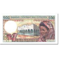 Billet, Comoros, 500 Francs, 1986, Undated (1986), KM:10a, NEUF - Comoros