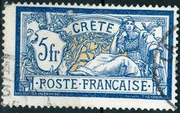 CRETA, FRENCH OFFICES ABROAD, 1902, TIPO MERSON, FRANCOBOLLI USATI Michel 15    Scott 15 - Usados