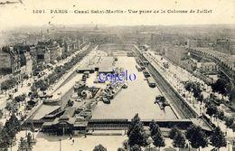 75 - Paris - Canal Saint-Martin - Vue Prise De La Colonne De Juillet - 1913 - Viste Panoramiche, Panorama