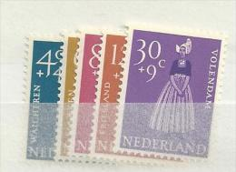 1958 MNH Nederland, Nvph 707-11, Klederdrachten, Posffris - 1949-1980 (Juliana)