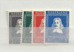 1952 MNH Nederland, Nvph 578-81 Riebeeck, Posffris - 1949-1980 (Juliana)