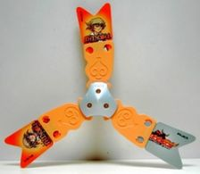 K326 / Kinder Série Toupies Beyblade / Shinobu (orange) / Ref: UN039B - Montables