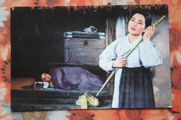 KOREA NORTH 1970s  Postcard - Pyongyang Opera FLOWER GIRL - Propaganda - Korea, North