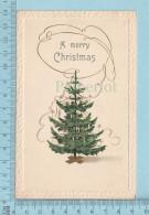 A Merry Christmas - Embossé, Sapin De Noel Cpa, 1911 -  Postcard Carte Postale - Other