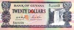 Guyana 20 Dollars, P-30b (ND) - UNC - Guyana
