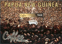 Papua New Guinea. 2018. Coffee Industry In Papua New Guinea (smell Of Coffee) (MNH OG **) Souvenir Sheet - Papouasie-Nouvelle-Guinée