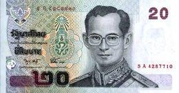Thailand 20 Bath, P-109a (signature 74) - UNC - Thailand