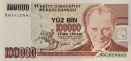 Turkey 100.000 Lirasi, P-206 (1997) - UNC - Türkei