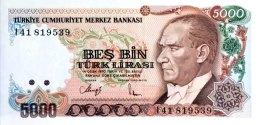 Turkey 5.000 Lirasi, P-198 (L.1970) - UNC - Türkei